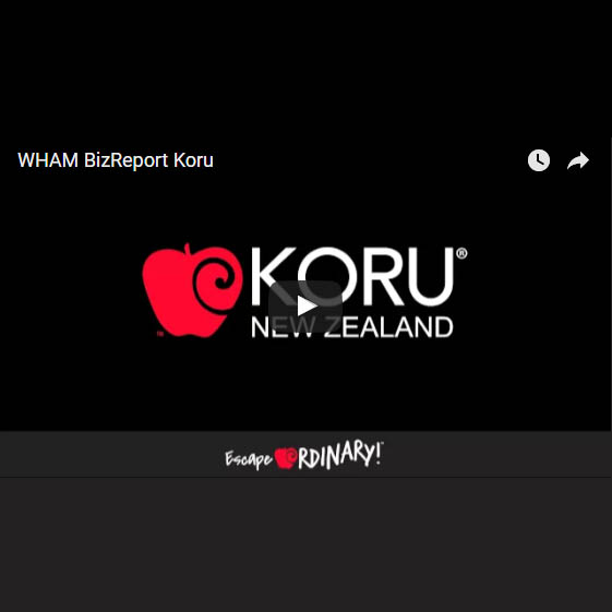 WHAM BizReport about KORU® Apple